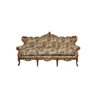 Victorian Style Decorative Floral Upholstered Parlor Sofa