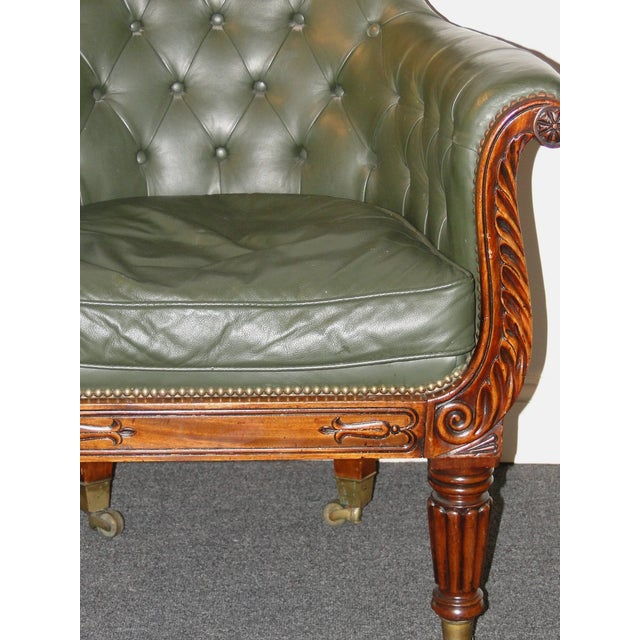 Regency Leather & Mahogany Library Chair C.1825 - Image 4 of 7