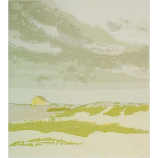 """Gertrude Wetmore """"Storm Clouds Over The Dunes"""" Serigraph"""