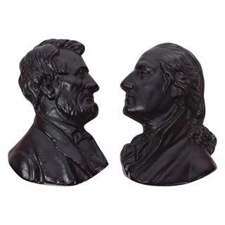Presidents Cast Iron Wall Decor - A Pair
