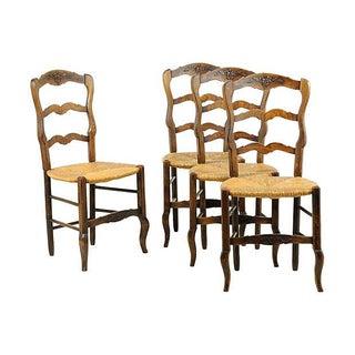Ornately Carved French Chairs - Set of 4