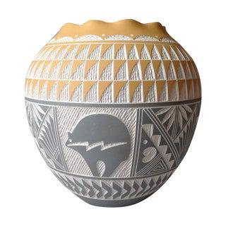 Vintage Native American Pueblo Acoma Pottery Vase