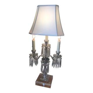Vintage Crystal Lamp Candelabra