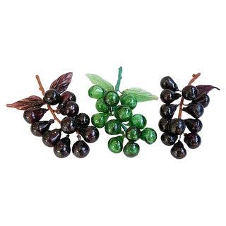 Midcentury Handblown Glass Fruit - Set of 3