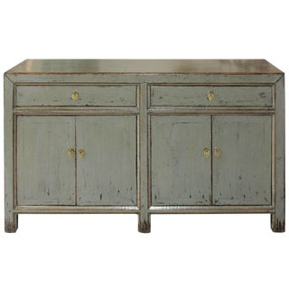 Contemporary Gray Lacquered Elm Sideboard