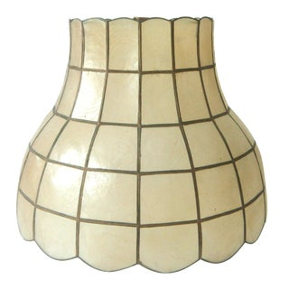 Vintage Capiz Shell Lamp Shade
