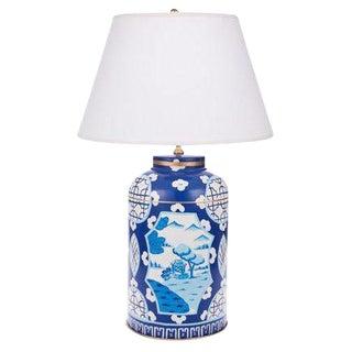 Dana Gibson Canton Blue Tea Caddy Lamp