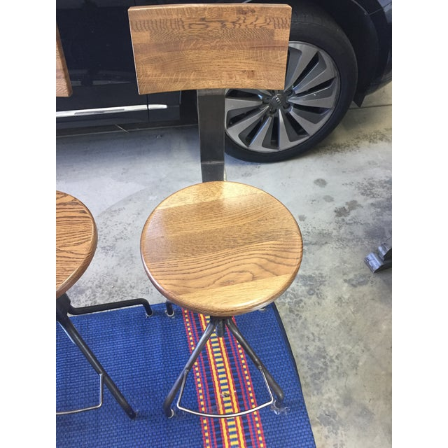 Rejuvenation Industrial Adjustable Stools - Set of 3 - Image 8 of 11
