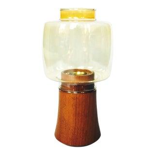 Mid Century Dansk Teak Hurrican Candle Holder