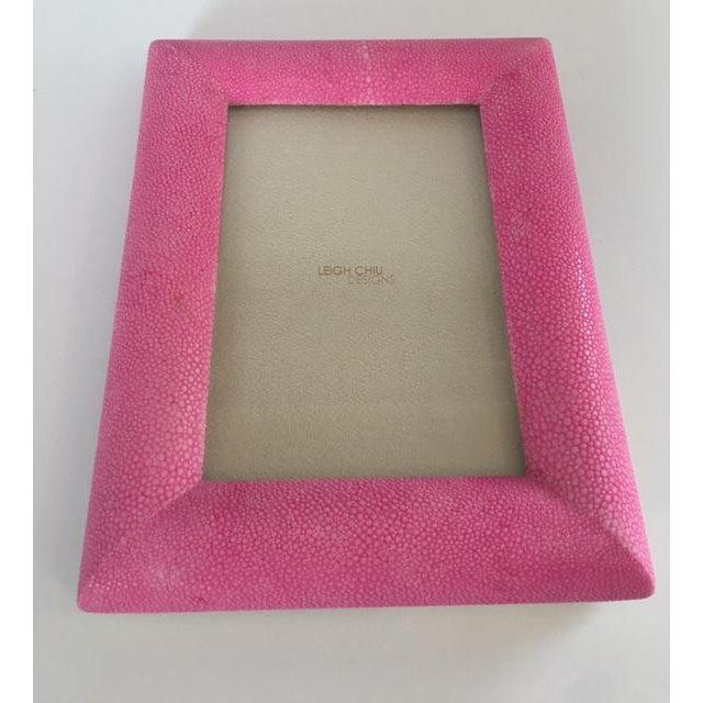 Hot Pink Shagreen Frame - Image 3 of 5