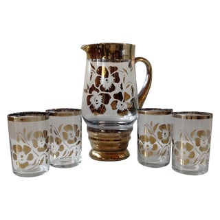 5-Piece Bohemian Crystal Pitcher & Tumbler Set