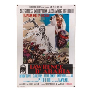 "Vintage Italian film poster for ""Lawrence of Arabia"""