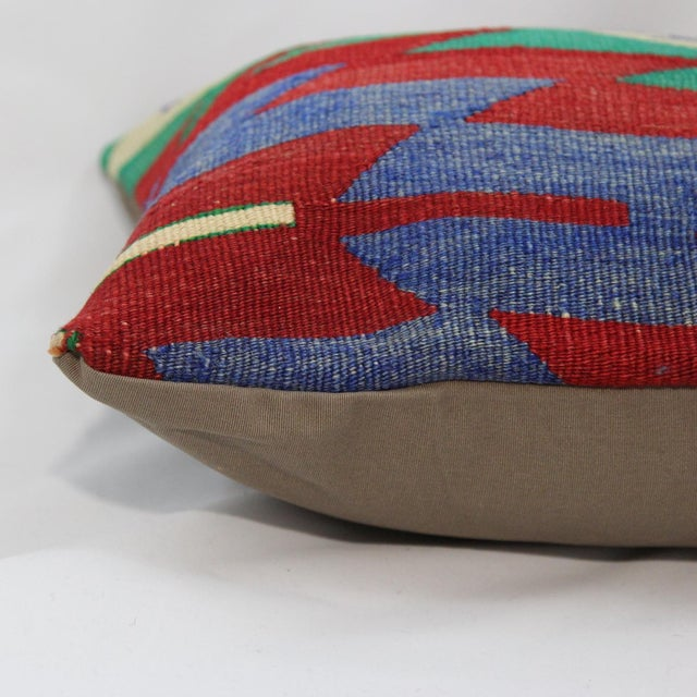 Turkish Handmade Kilim Pillow Cover - Image 5 of 5