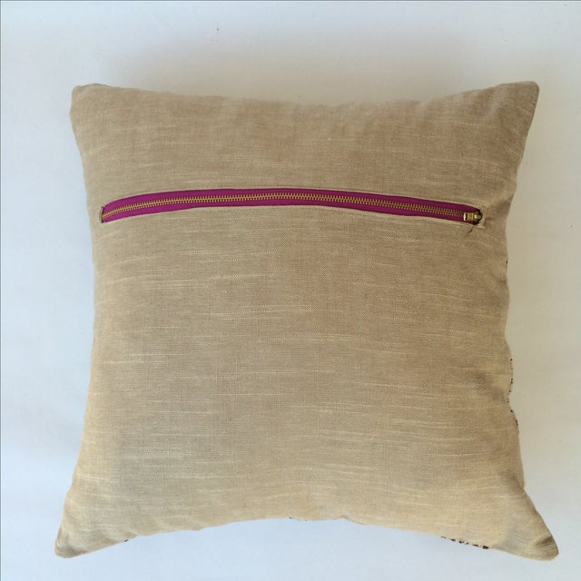 Hand Made Burmese Cotton Pillow - Image 3 of 3