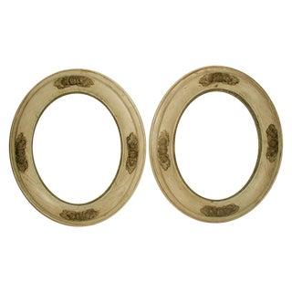 19th C Italian Wooden Oval Acorn Frames - A Pair
