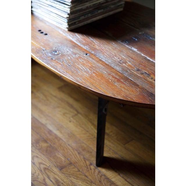 Mid-Century Reclaimed Wood Surfboard Coffee Table - Image 11 of 11