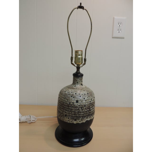 Mid-Century Modern Art Pottery Ceramic Table Lamp - Image 2 of 4