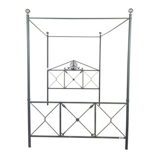 Contemporary Wrought Iron Metal Canopy Bed Frame