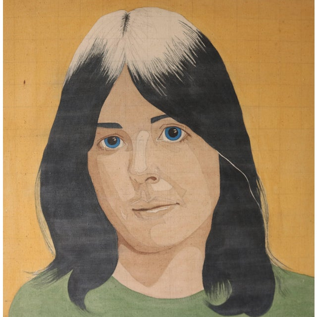 Portrait of a Woman in the Style of Alex Katz - Image 1 of 7