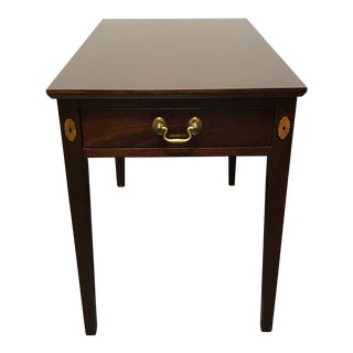 Traditional Federal Style Mahogany Inlaid Side / End Table
