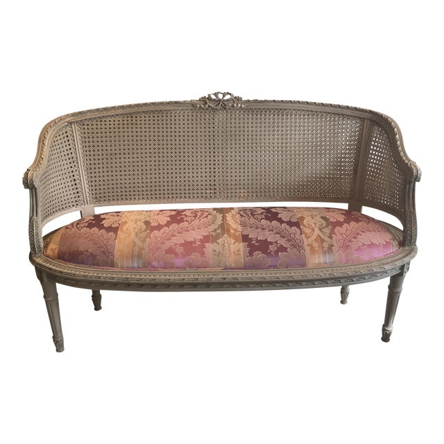 1920s Painted Cane Loveseat Chairish
