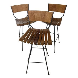 Arthur Umanoff Mid-Century Bar Stools - Set of 3