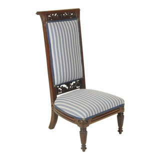 18th Century Antique French Louis XVI Slipper Chair
