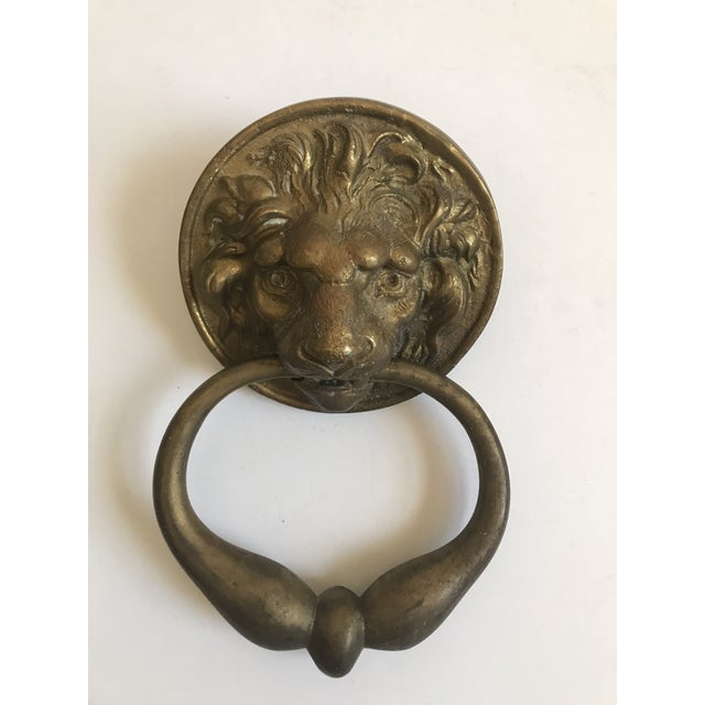Antique Lion Head Door Knocker - Image 4 of 8