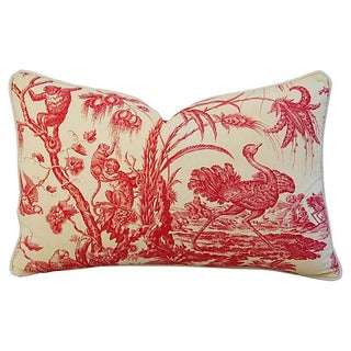 Marius Boudin French Toile & Linen Pillow
