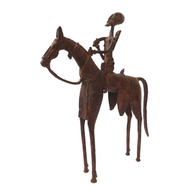 Image of African Dogon Bronze Horseman Mali