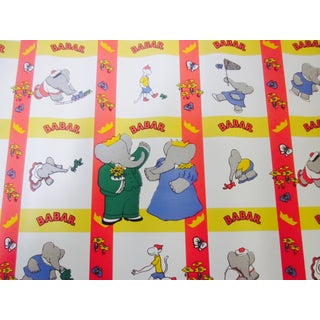 French Babar Wallpaper or Adhesive Paper - 1.5 Yrd