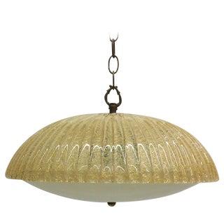 Aureliano Toso Flecked Murano Glass Pendant Light
