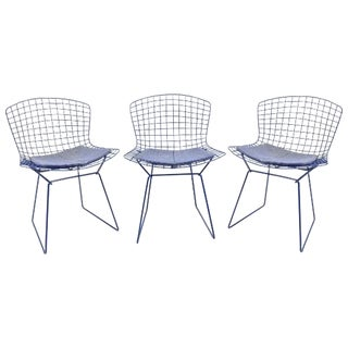 Original Bertoia Blue Chairs - Set of 3