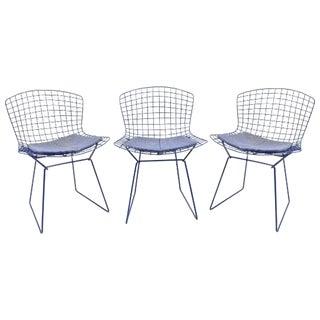 Original Bertoia Blue Chairs - Set of 3