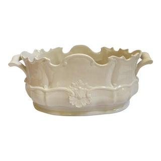 Vintage Italian Ceramic Shell Cachepot