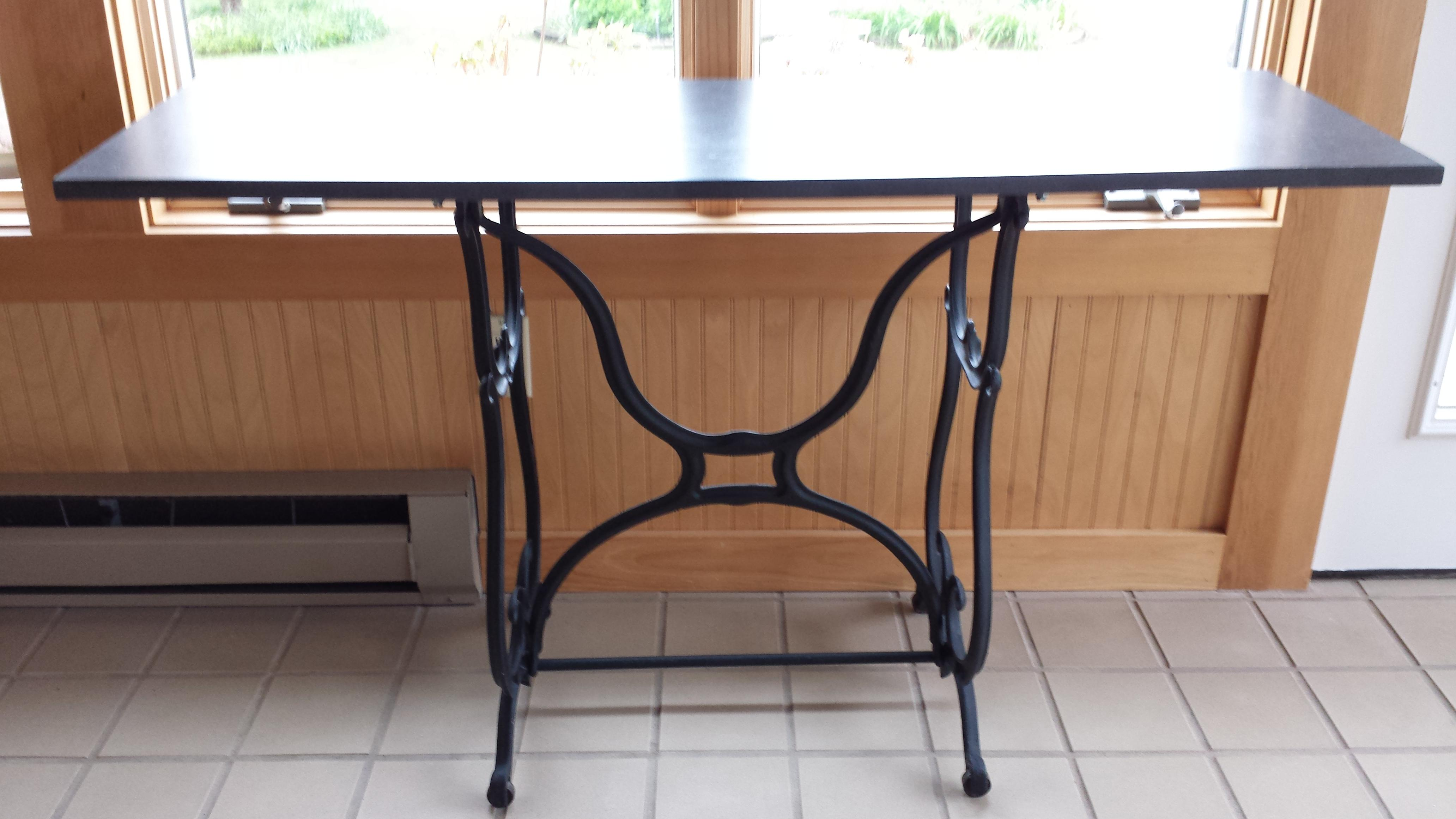 Superior Wrought Iron U0026 Slate Top Console Table   Image 2 Of 11