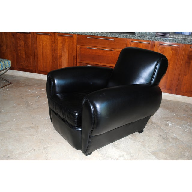 mitchell gold bob williams leather club chair chairish
