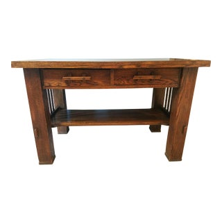 Antique Stickley Style Mission Buffet Server - Quarter Sawn Oak