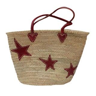 Burgundy Stars Market Basket