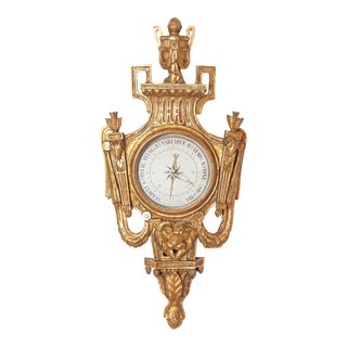 Louis XVI Period Carved and Giltwood Barometer