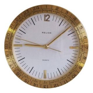 Sleek Relide World Time Clock
