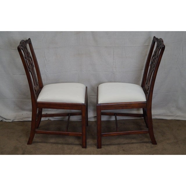 Maitland Smith Chippendale Style Solid Mahogany Dining