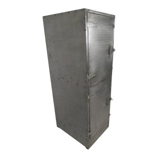 Industrial Metal Mid-Century Two Door Locker