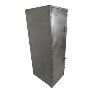 Industrial Metal Mid-Century Two Door Locker