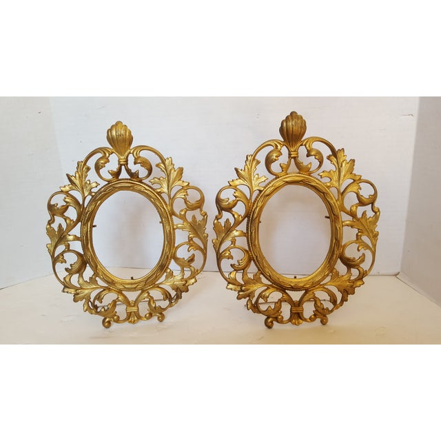 Bronze Picture Frames - Pair - Image 2 of 3