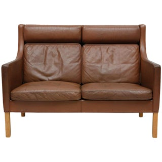 Borge Mogensen Leather Settee