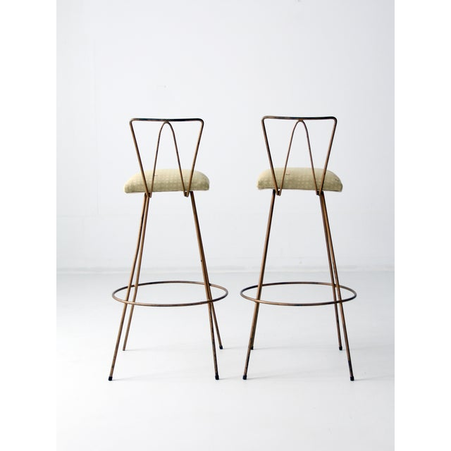 Image of Mid-Century Hairpin Stools - Pair