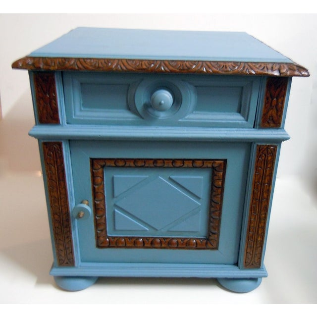 Blue Painted Mid-Century Nightstand - Image 2 of 9