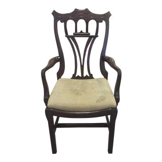 Nouveau Carved Wood Armchair