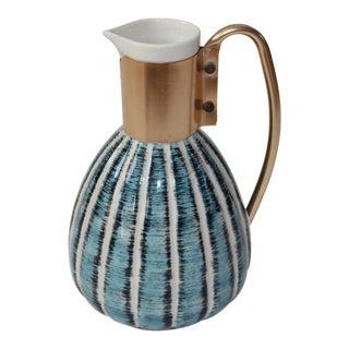 1957 Vintage C Miller Mid Century Ceramic Warming Carafe Decanter